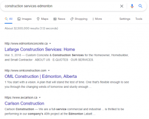 2021 05 12 08 17 15 construction services edmonton Google Search We create high-performing websites for the construction industry.
