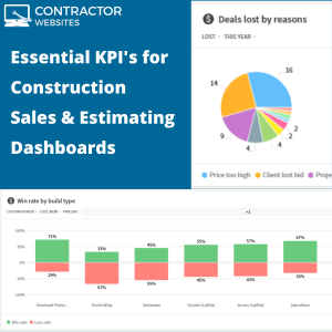 Essential KPIs for Construction Sales Estimating Dashboards 1 We create high-performing websites for the construction industry.
